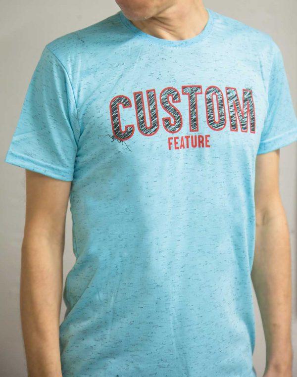 Футболка custom feature голубая